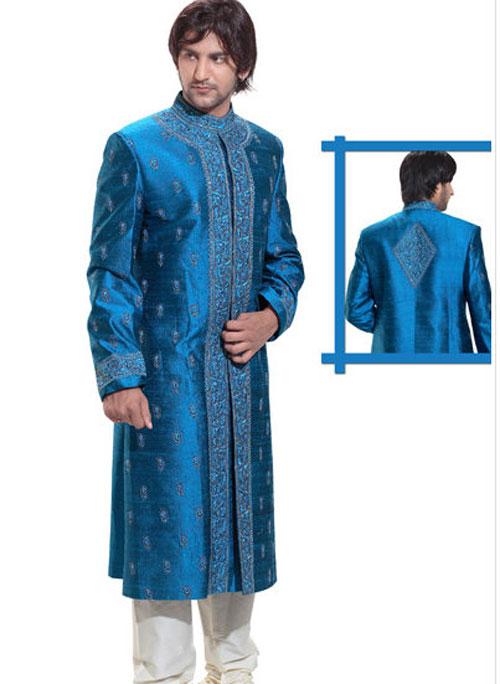 Blue Wedding Sherwani