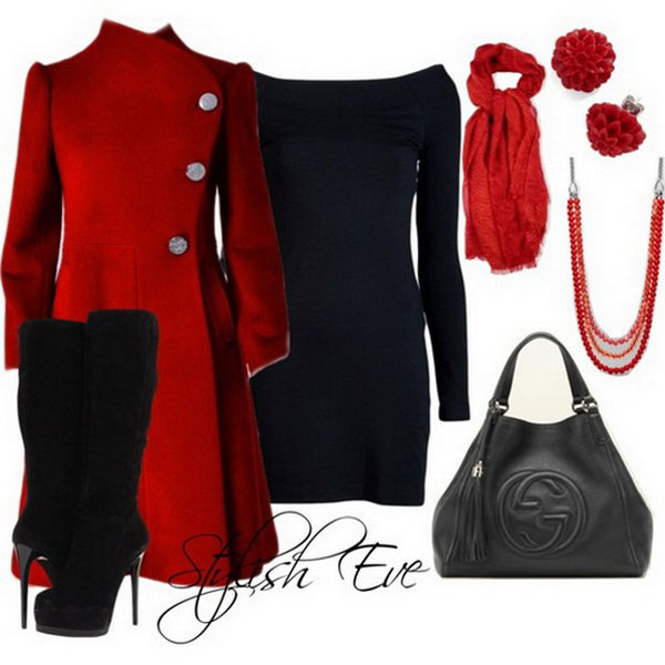Red Winter Outfits for Women