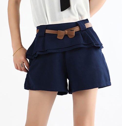 ladies casual elastic waist