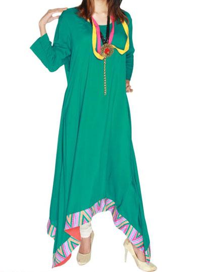 stylish ferozi long kurta