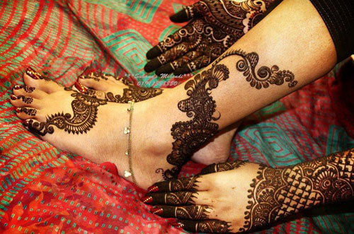 Arabic Feet Mehndi Designs