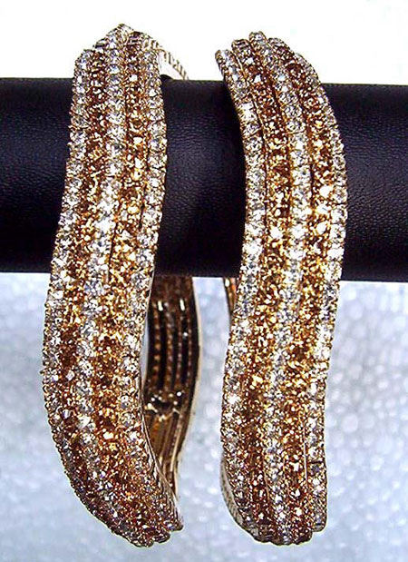 Indian Gold Bangles Pearl