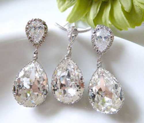 Popular items for bridal jewelry set