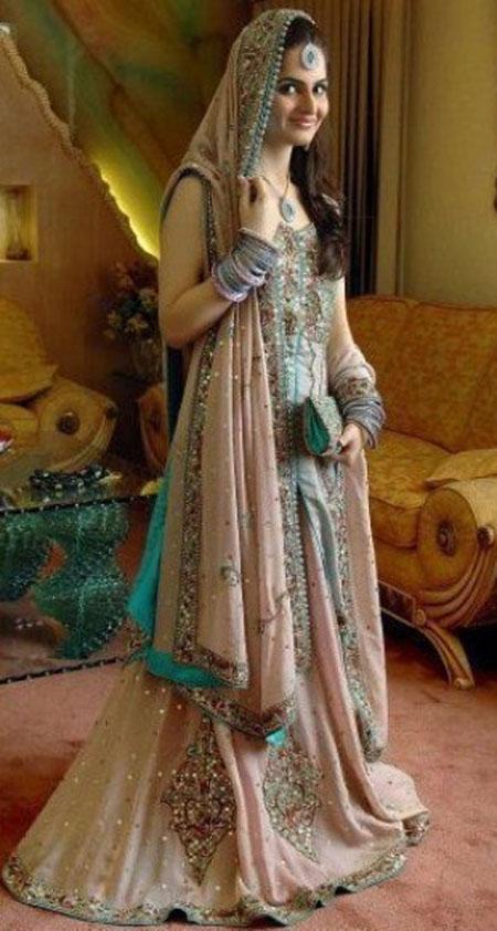 bridal dress tea pink