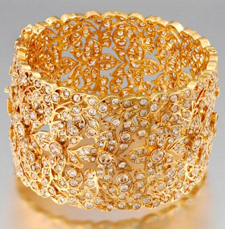 gold bridal bangles design