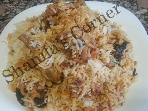Hyderabadi Chicken Biryani by Shireen Anwer