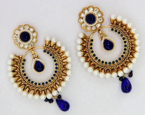 Beaded-gold-earrings