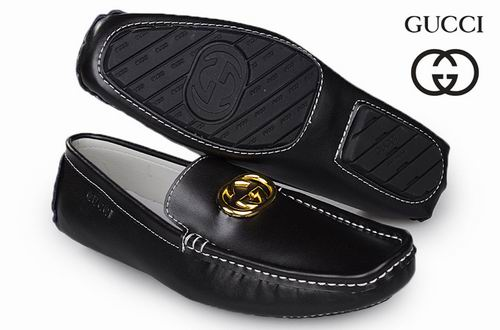 Cheap Gucci Mens Casual Leather Shoes (6)77777