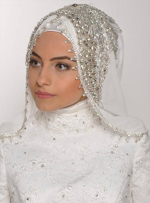 Muslim Wedding Dresses For Bride In : Muslim wedding hijab styles for brides shanila s corner