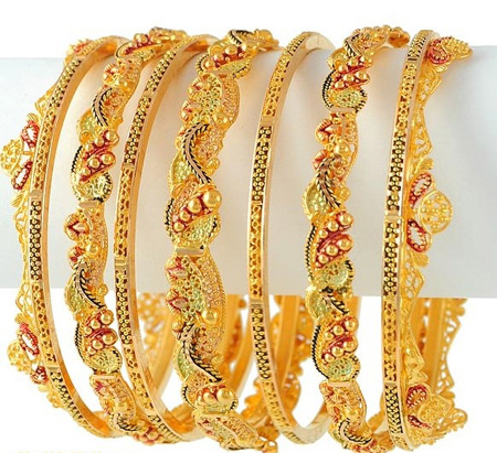 Latest Gold Churi Design Shanila S Corner