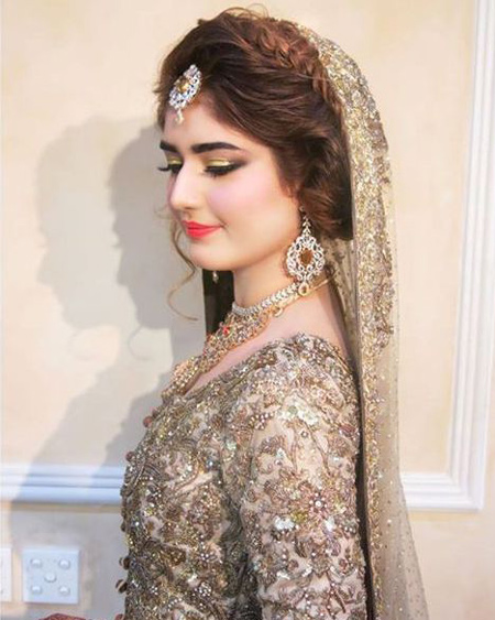 Tremendous Asian Bridal Makeup And Hairstyle Shanila39S Corner Hairstyle Inspiration Daily Dogsangcom
