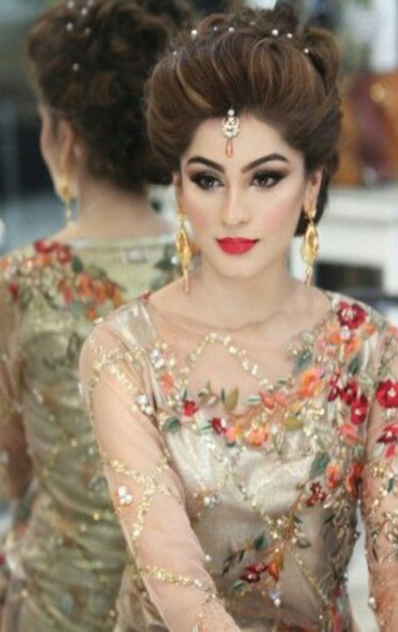 Superb Asian Bridal Makeup And Hairstyle Shanila39S Corner Hairstyle Inspiration Daily Dogsangcom