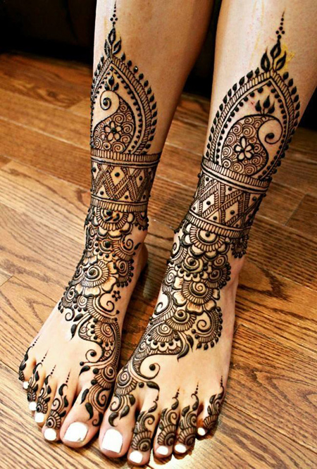 Foot Mehndi Design 2016