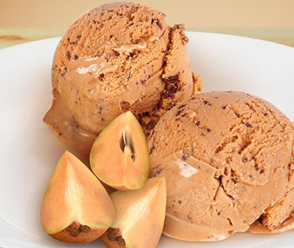 Chikoo Ice Cream Recipe