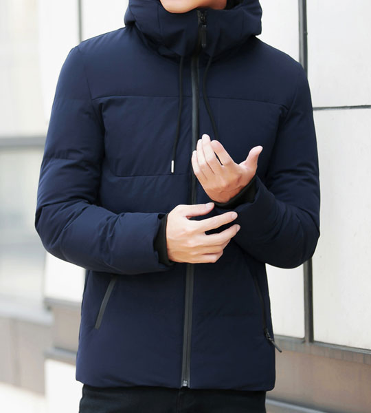 winter jacket for mens hooded collar