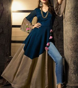 ladies stylish long kurti designs 2020
