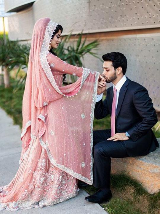 Pakistani Bride and Groom Dress Combination 2020