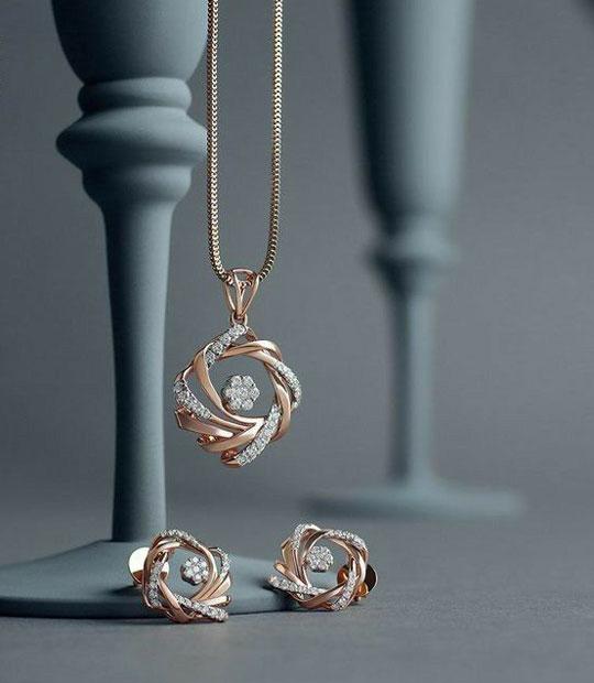 Diamond Necklace Pendant Set Designs 2020
