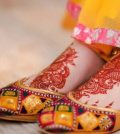 Punjabi khussa for Girls on Mehndi Ceremony