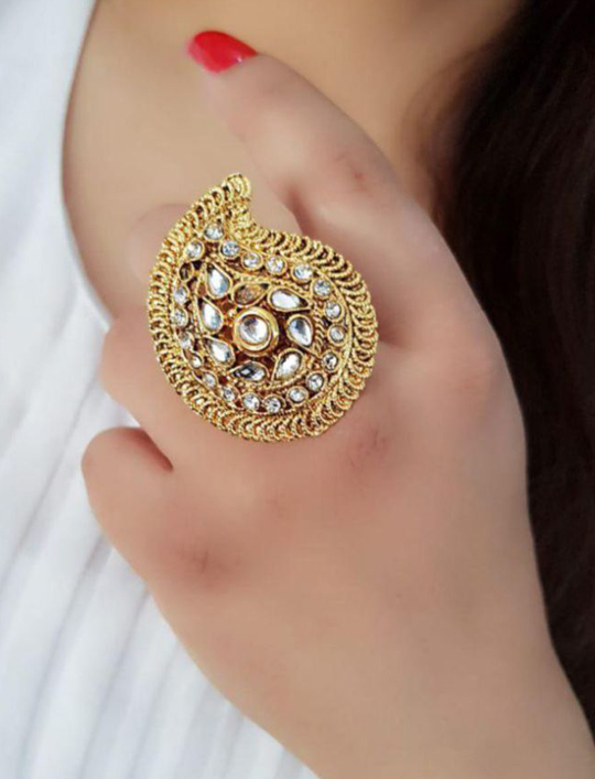Royal Gold Big Gold Rings Designs 2021