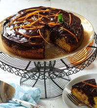 Chocolate & Orang Marble Cake Recipe