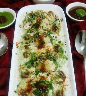 Stuffed Dahi Bhalla Chaat Recipe