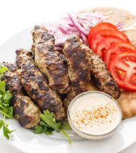 Lebanese Style Spicy Beef Kofta Kabobs